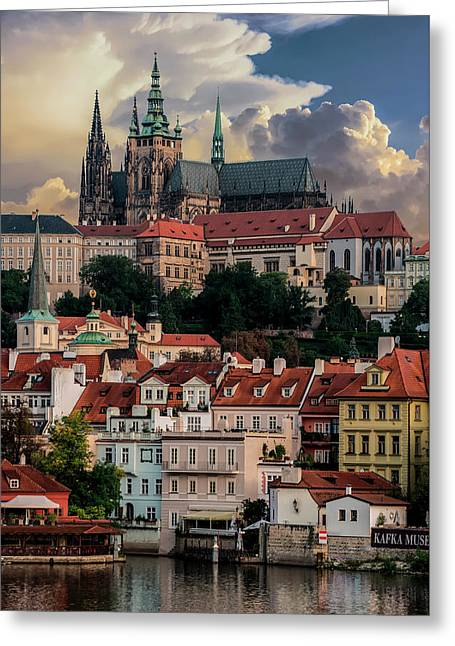 Sunny Afternoon In Prague Greeting Card