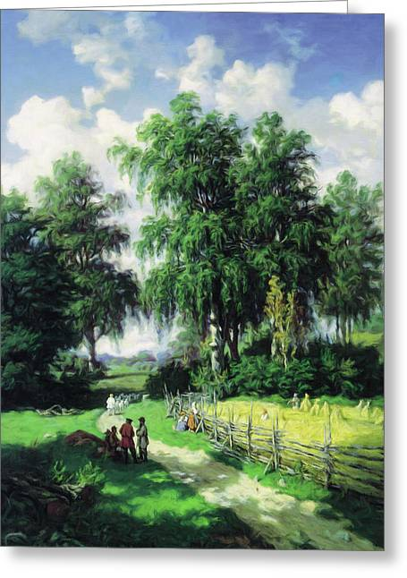 Sunny Afternoon In The Meadows Greeting Card