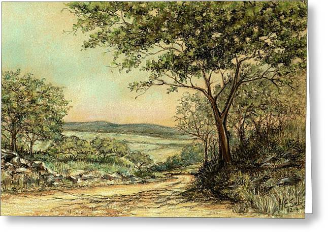 Greeting Card featuring the painting Sunny Bushveld by Heidi Kriel