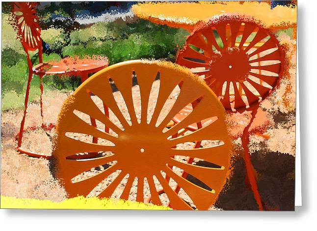 Sunny Chairs 5 Greeting Card