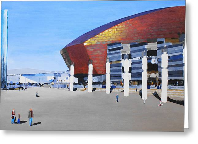 Sunny Day At Cardiff Bay Greeting Card