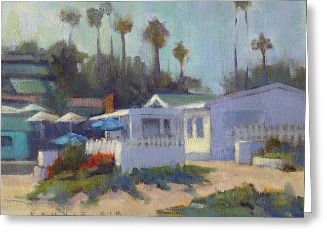 Greeting Card featuring the painting Sunny Day At Crystal Cove by Konnie Kim