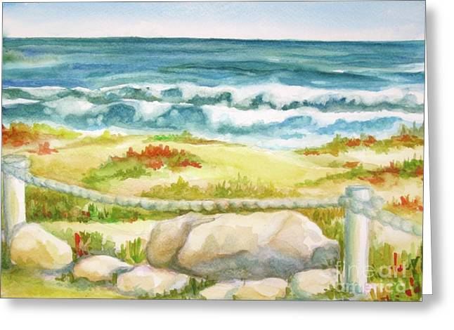 Greeting Card featuring the painting Sunny Day On Cocoa Beach by Inese Poga