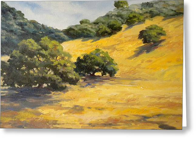 Sunny Hills Greeting Card by Maralyn Miller