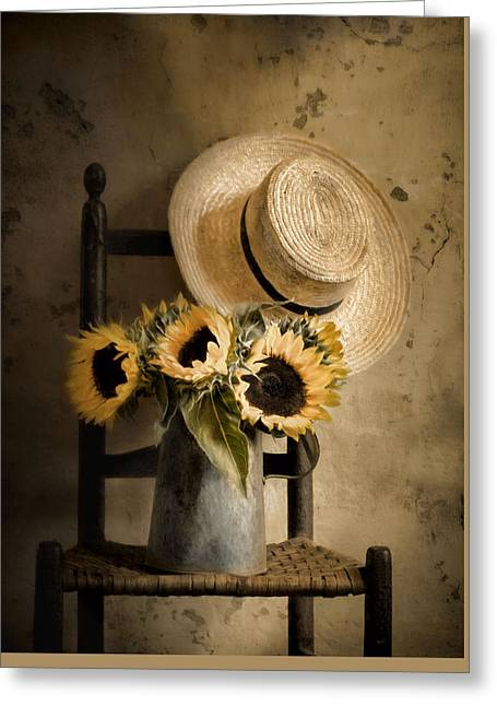 Sunny Inside Greeting Card by Robin-Lee Vieira