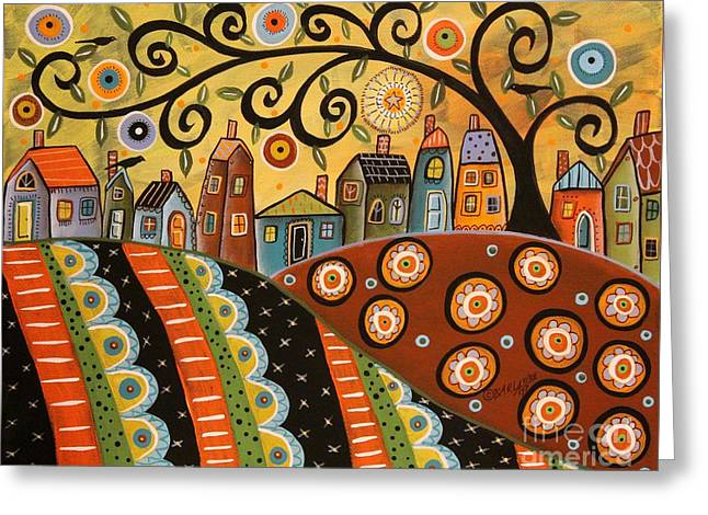 Sunny Landscape Greeting Card by Karla Gerard