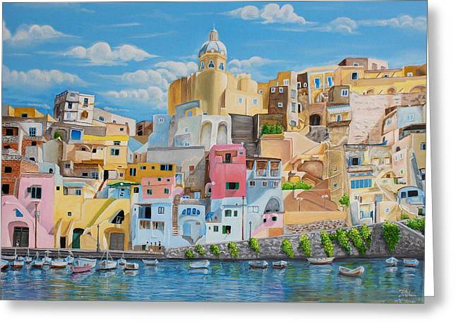 Sunny Noon In Italy Greeting Card by Kishan Patel