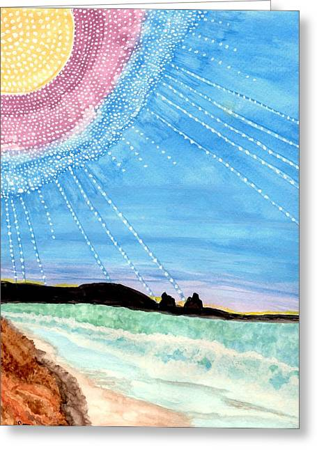 Sunny Ocean Days Are Bigger Than Life Greeting Card by Connie Valasco