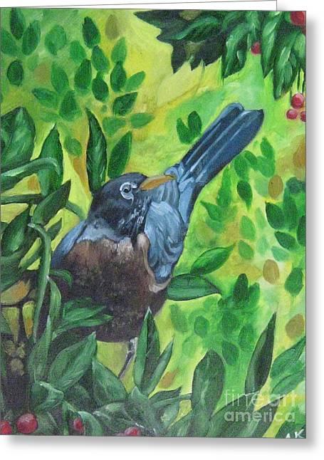 Sunny Place Greeting Card by Akhilkrishna Jayanth