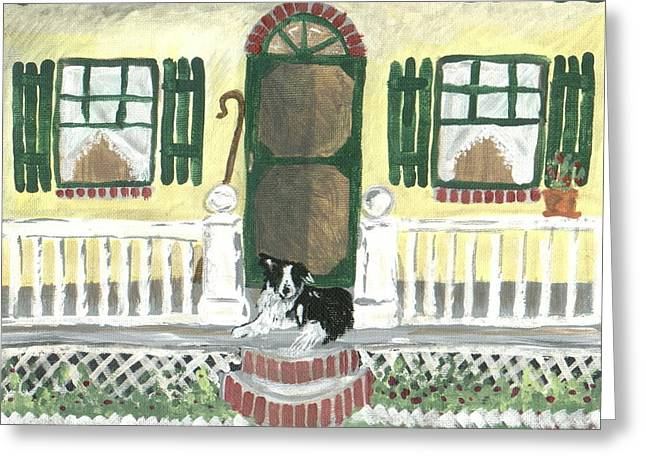 Sunny Porch Greeting Card by Sue Ann Thornton