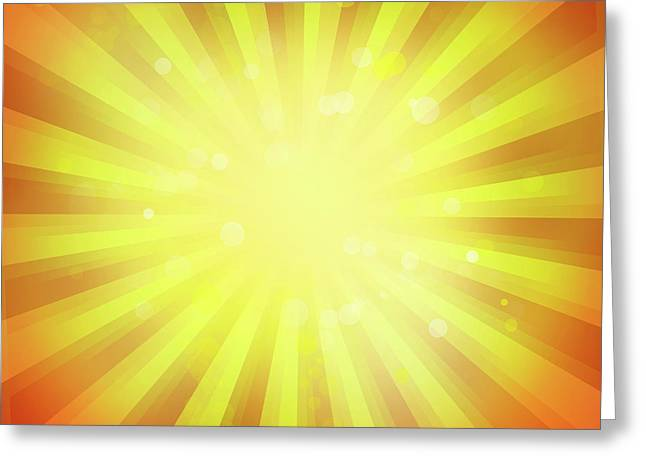 Sunny Rays Greeting Card by Les Cunliffe