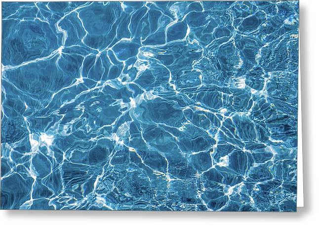Greeting Card featuring the photograph Sunny Reflections On Tropical Water by Jenny Rainbow