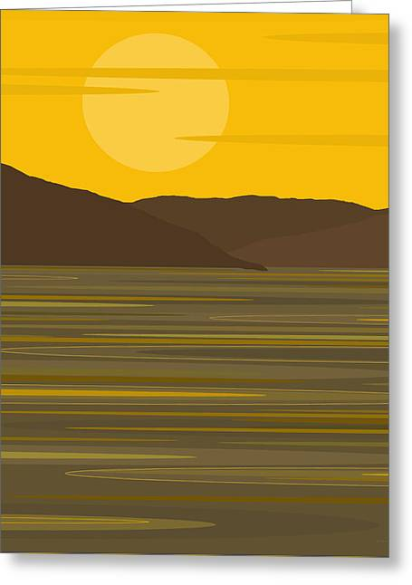 Sunny River Greeting Card by Val Arie