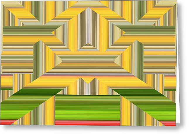 Sunny Side Abstract Wide Greeting Card