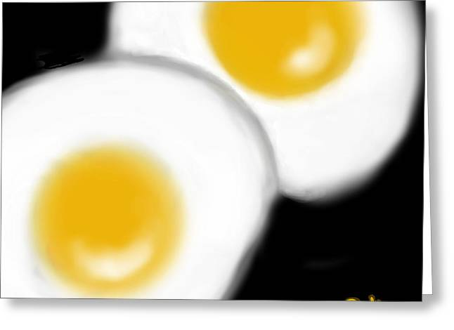 Sunny-side Sunday Morning Greeting Card by Carol Jacobs