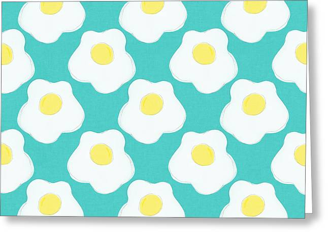 Sunny Side Up Eggs- Art By Linda Woods Greeting Card