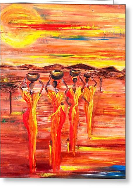 Sunny South Africa Greeting Card by Marietjie Henning