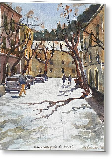 Sunny Street, Valledemossa Greeting Card