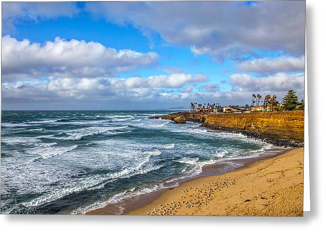 Sunny Sunset Cliffs Greeting Card