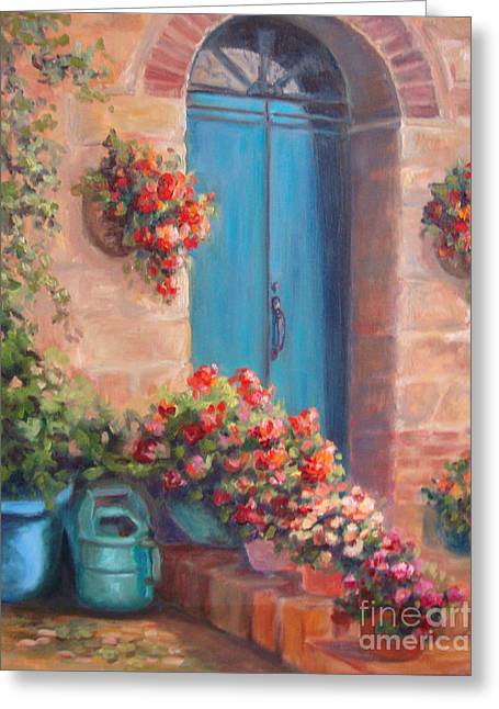 Sunny Welcome Greeting Card by Kathy Brusnighan