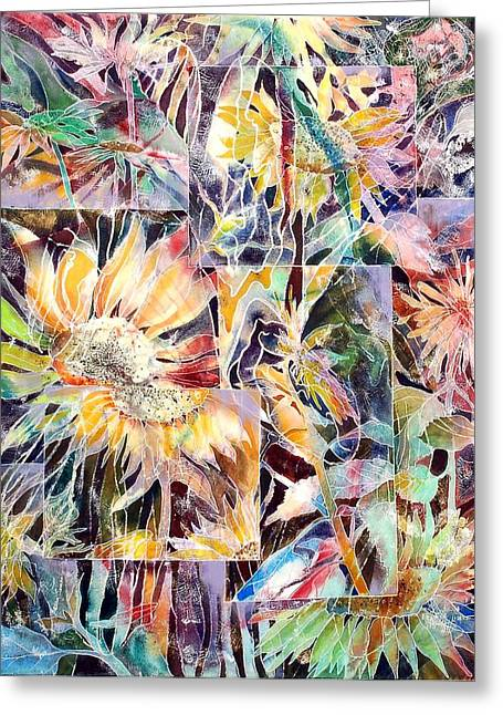 Sunnyflowers Greeting Card by Beena Samuel