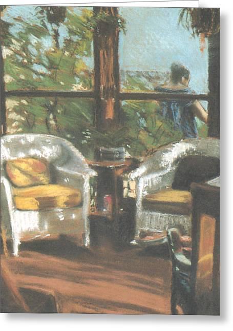 Sunporch Greeting Card by Linda Crockett