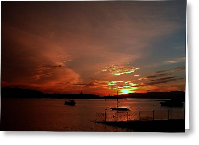Sunraise Over Lake Greeting Card