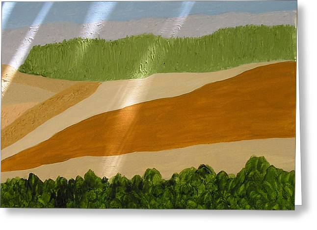 A Vista Of Valleys Greeting Card by Harris Gulko