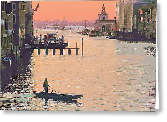 Sunrise - Venice Greeting Card by Robert Bissett