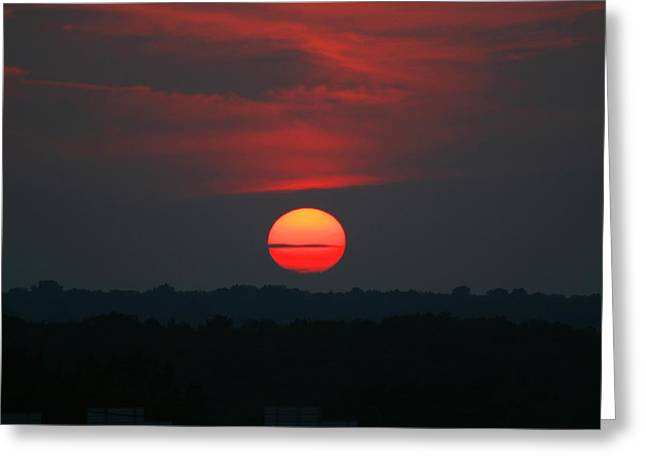 Greeting Card featuring the photograph Sunrise 2 by David Dunham
