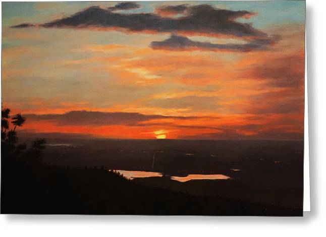 Sunrise Above Boulder Greeting Card