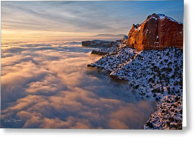 Sunrise Above The Clouds Greeting Card
