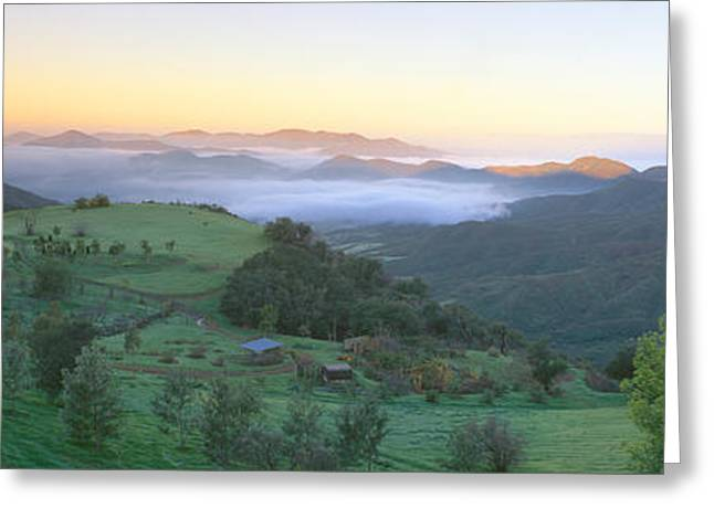 Sunrise Across San Fernando Valley Greeting Card by Panoramic Images