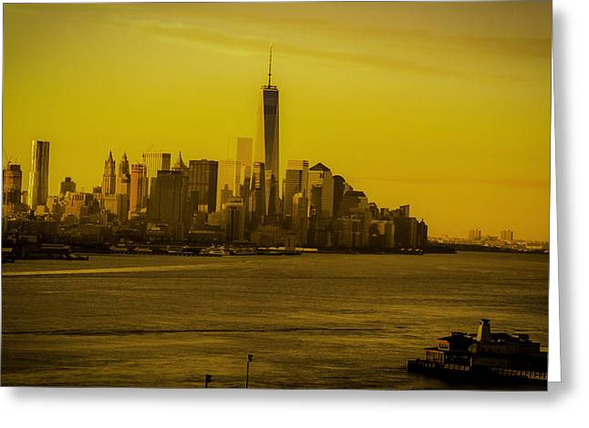 Sunrise Across The Hudson Greeting Card
