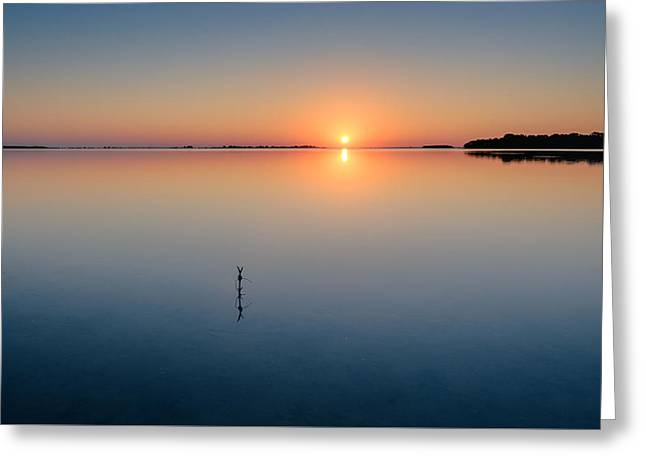 Sunrise Along The Pinellas Byway Greeting Card