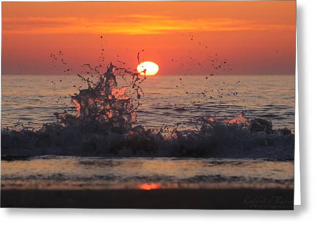 Sunrise And Splashes Greeting Card