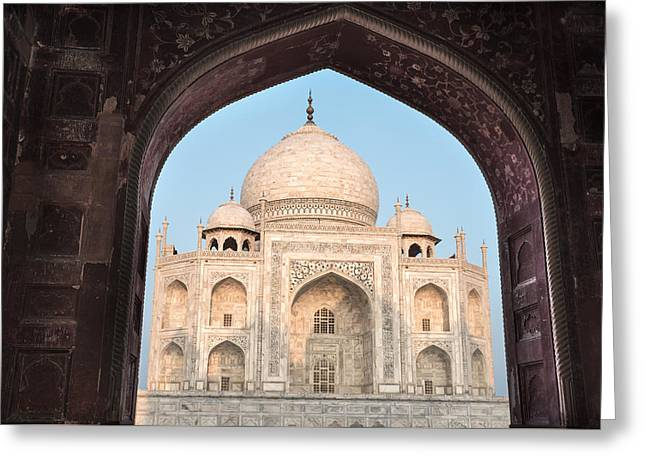 Sunrise Arches Of The Taj Mahal Greeting Card