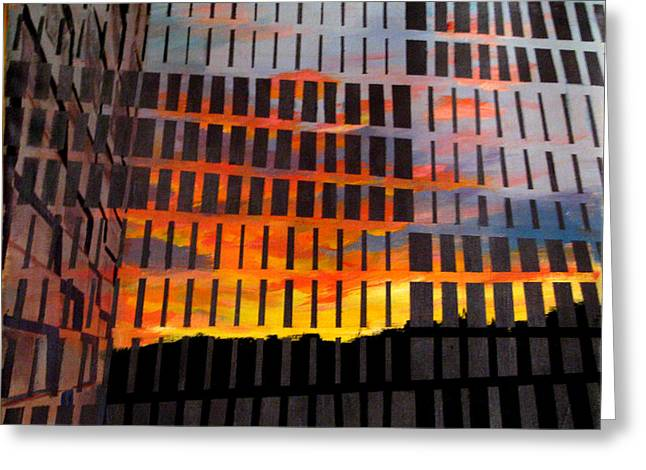 Sunrise Greeting Card by Art Nomad Sandra  Hansen