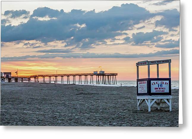 Sunrise At 16th Street Ocean City New Jersey Greeting Card