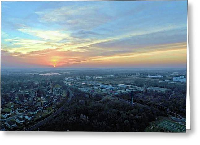 Sunrise At 400 Agl Greeting Card by Dave Luebbert