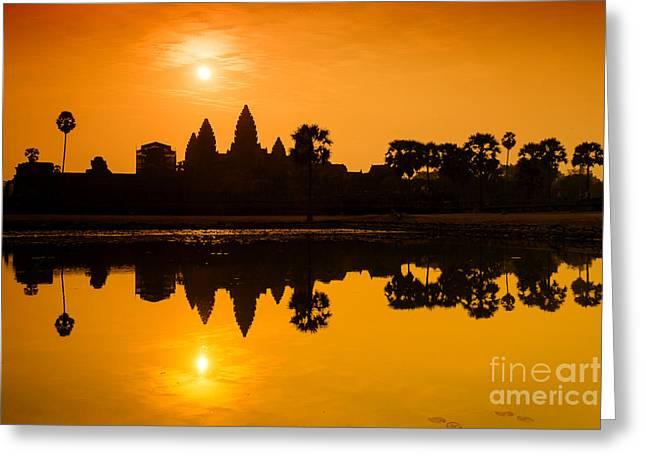 Sunrise At Angkor Wat Greeting Card