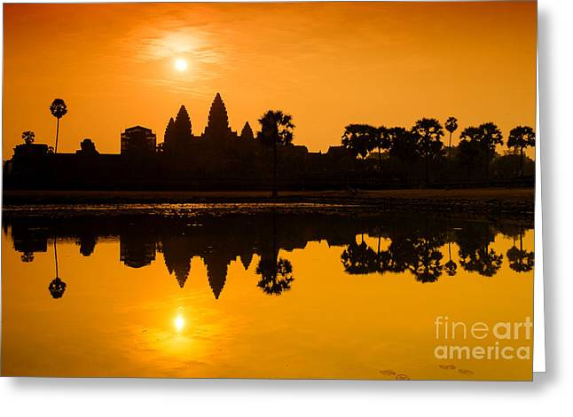 Sunrise At Angkor Wat Greeting Card