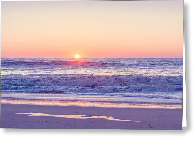 Sunrise At Assateague - Washed Greeting Card by SharaLee Art