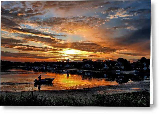Sunrise At Back Cove Greeting Card
