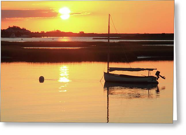 Sunrise At Bass River Greeting Card by Roupen  Baker