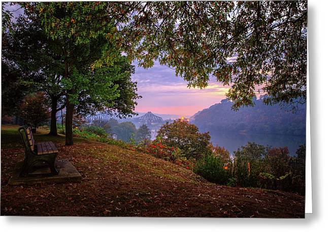 Sunrise At River Rd  Greeting Card