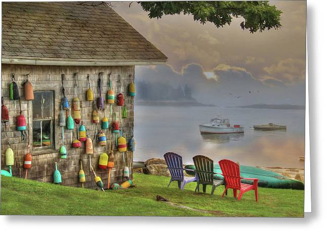Sunrise At Boothbay Harbor Greeting Card