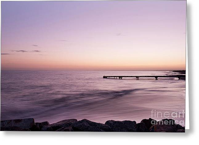 Greeting Card featuring the photograph Sunrise At Busselton by Ivy Ho