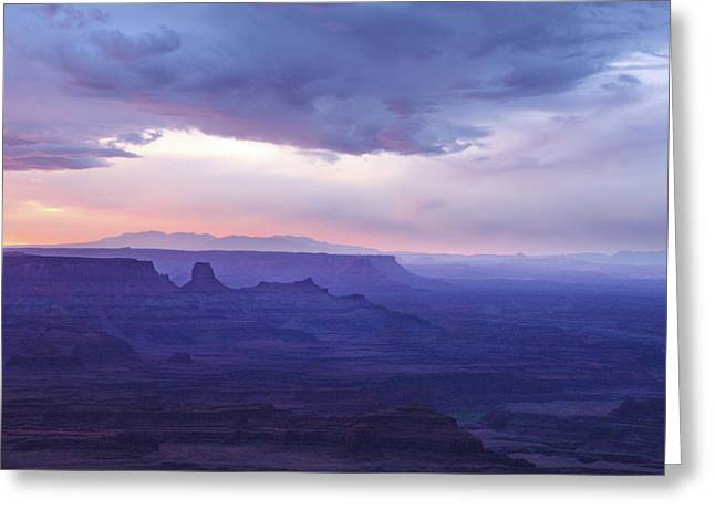 Greeting Card featuring the photograph Sunrise At Canyonlands by Marie Leslie
