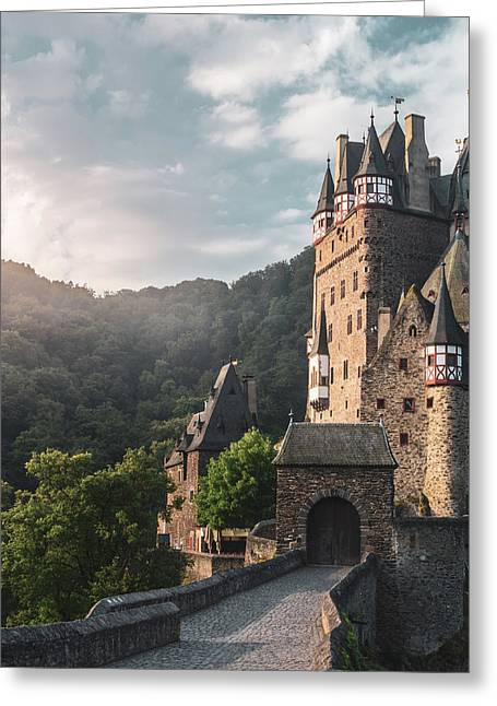 Sunrise At Castle Eltz, Germany Greeting Card